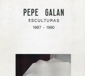 Pepe Galán, esculturas 1987-1990
